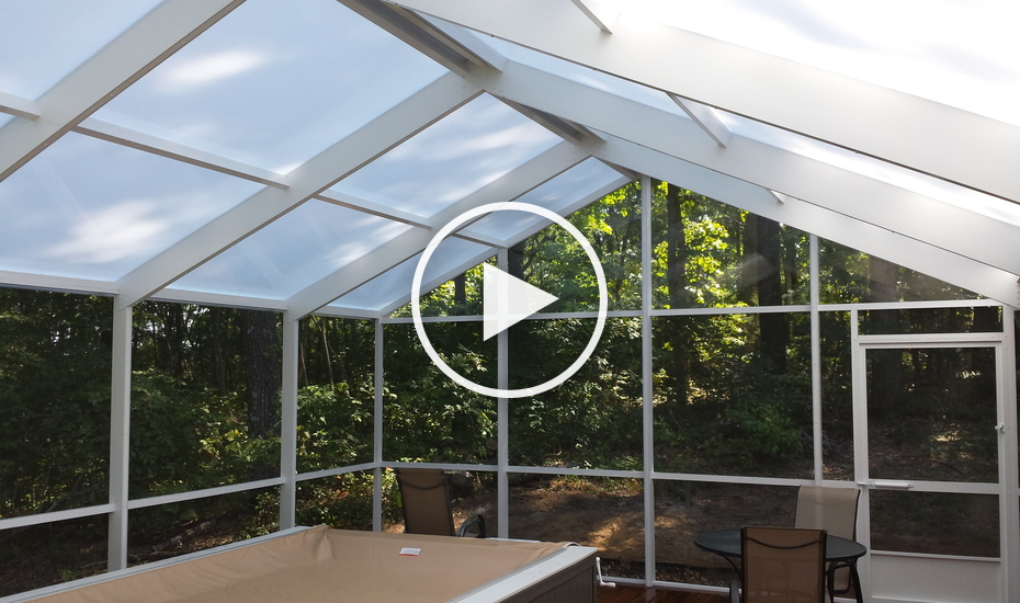 Polycarbonate Roof System Screen Rooms